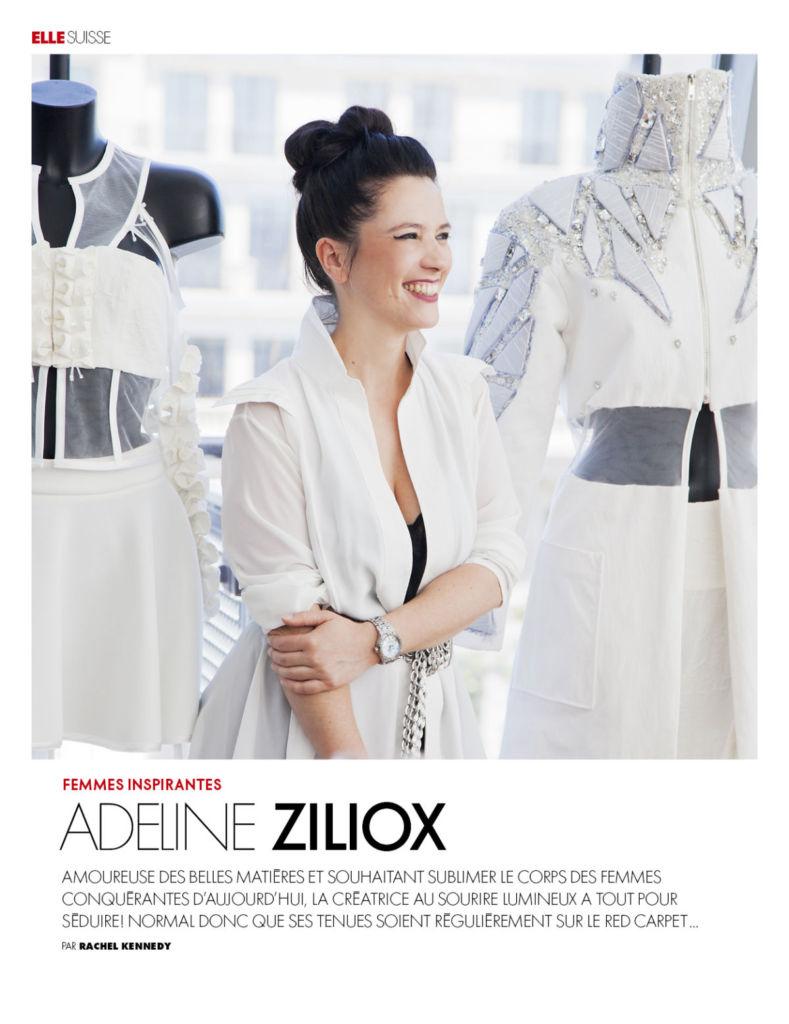 Elle Suisse Revue de presse Adeline Ziliox