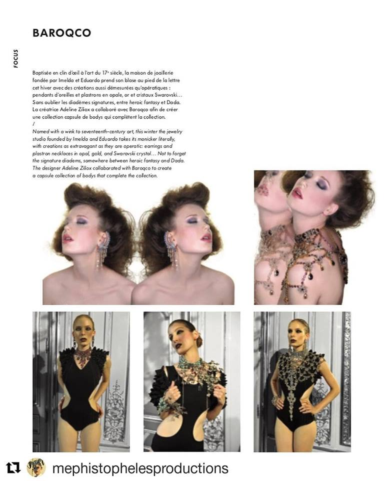 Adeline Ziliox dans L'officiel Paris