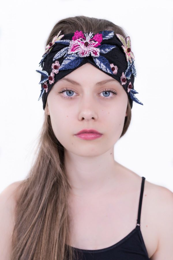 Headband floral blue by Adeline Ziliox
