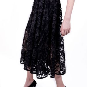Jupe Floral Black by Adeline Ziliox