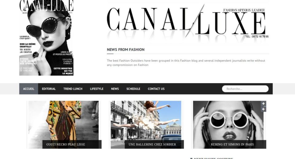 Article Canal Luxe