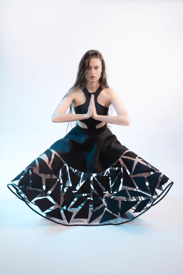 Jupe Crystal Skin Black by Adeline Ziliox