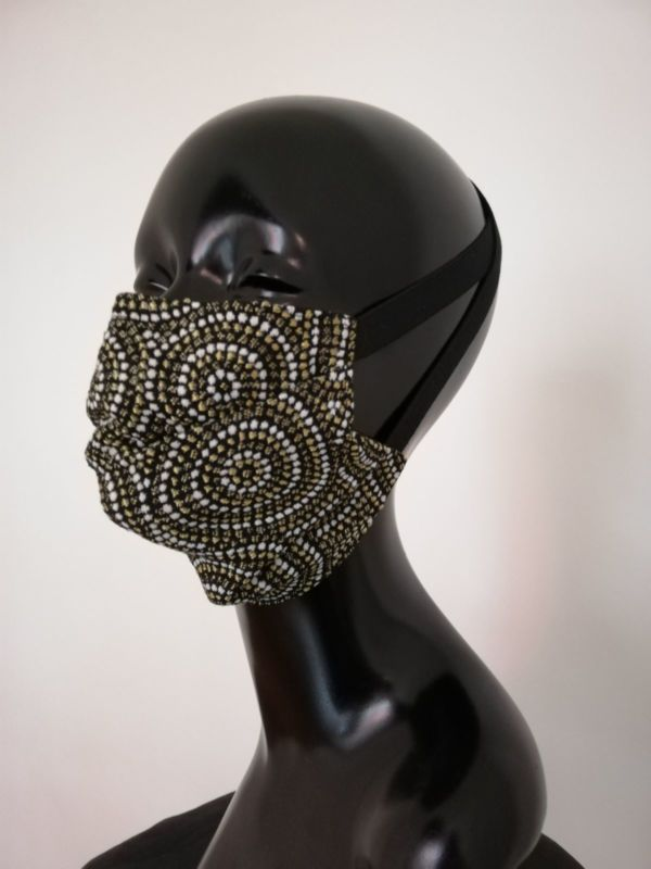 Masque AFNOR créateur masque visage Covid Aborigène