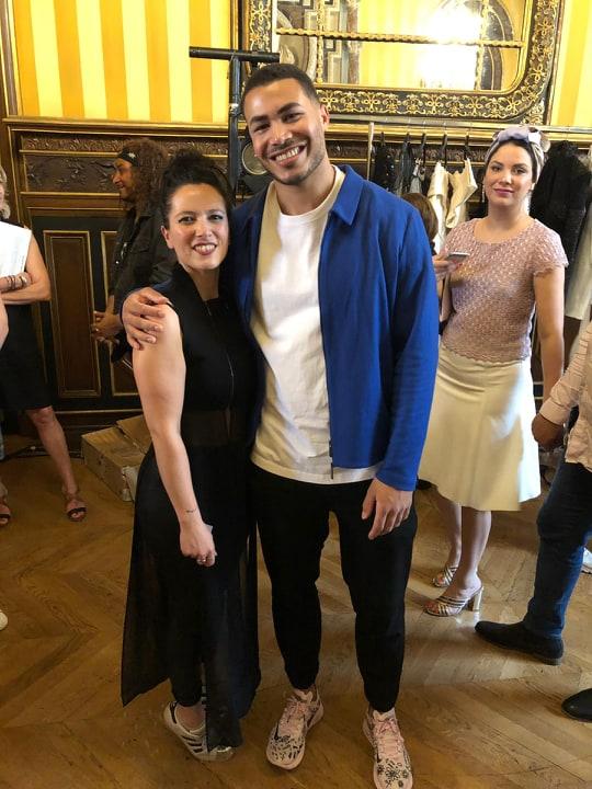 Adeline Ziliox avec Pierre Danaé- finaliste the Voice