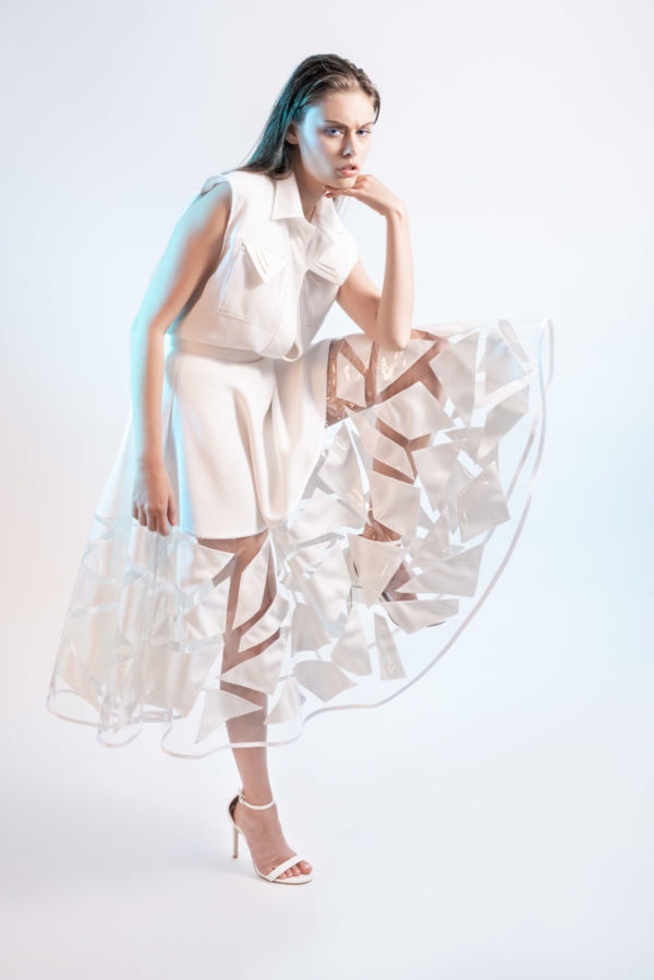 Jupe Crystal Skin White by Adeline Ziliox